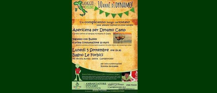 5 settembre: Apericena per Dynamo Camp