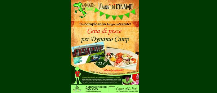 24 settembre: Cena di Pesce per Dynamo Camp