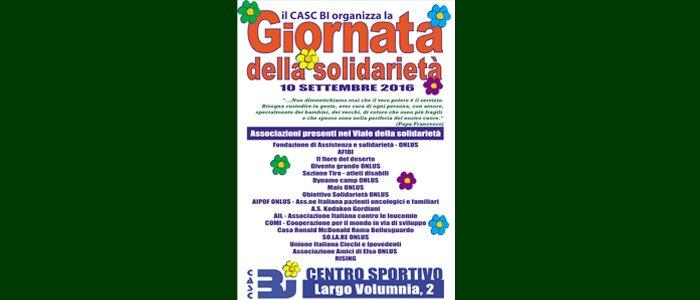 10 settembre: giornata della solidarietà