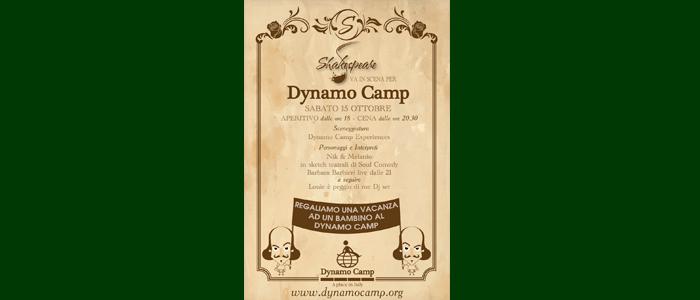 15 OTTOBRE: Shakespeare va in scena per Dynamo Camp
