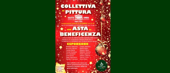 23 dicembre: collettiva di pittura con asta di beneficienza