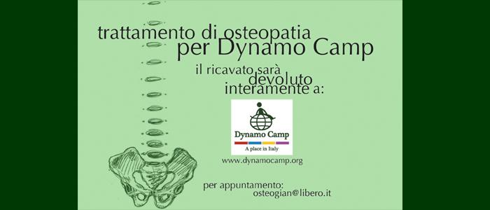 Trattamento di osteopatia per Dynamo Camp