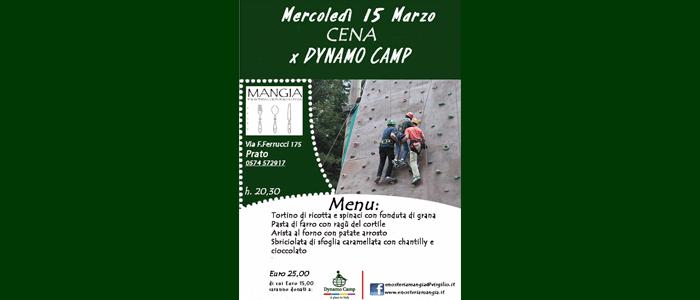 15 marzo: Cena per Dynamo Camp