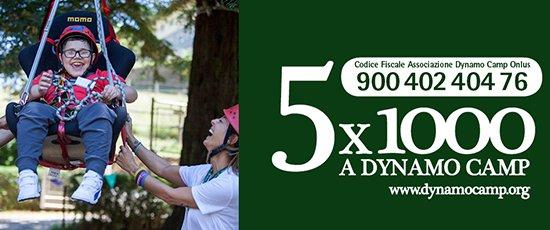 Bambino malato arrampicata terapia ricreativa 5X1000 per sostenere Dynamo Camp
