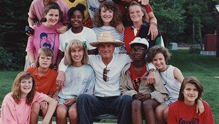 Paul Newman attività con bambini malati in camp SeriousFun