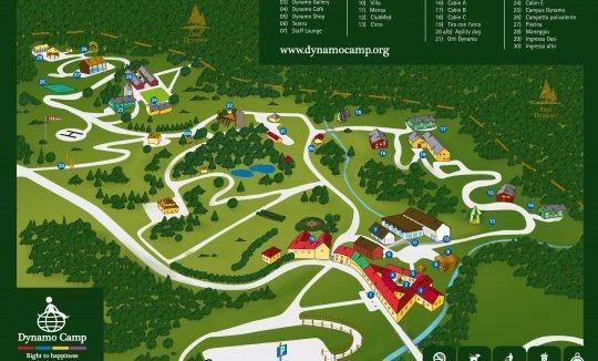 Mappa Dynamo Camp: luogo magico
