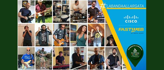 #LaBandaAllargata: la forza della musica di Fastweb e Cisco per Dynamo Camp
