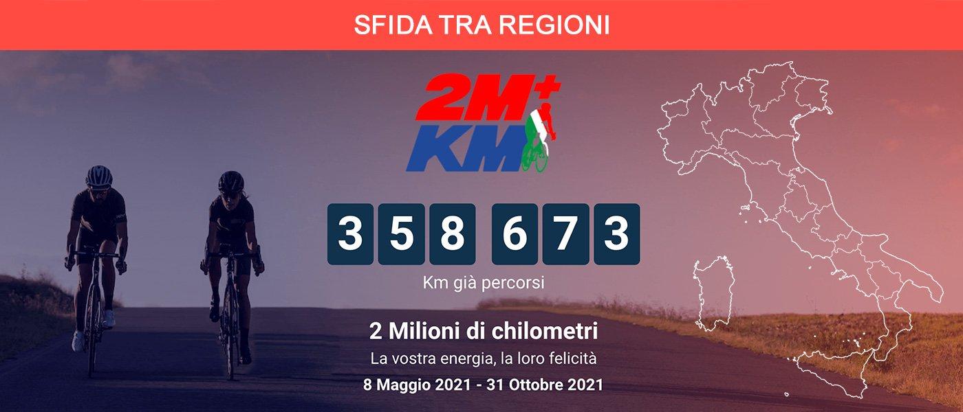 Una Sfida tra regioni per 2+Milioni di km a scopo benefico